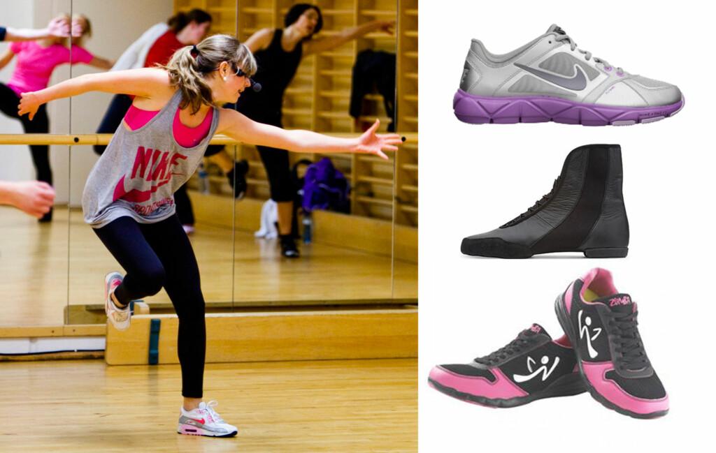 20e43746 GODE SKO: Det er viktig med gode sko, også når du danser Zumba.