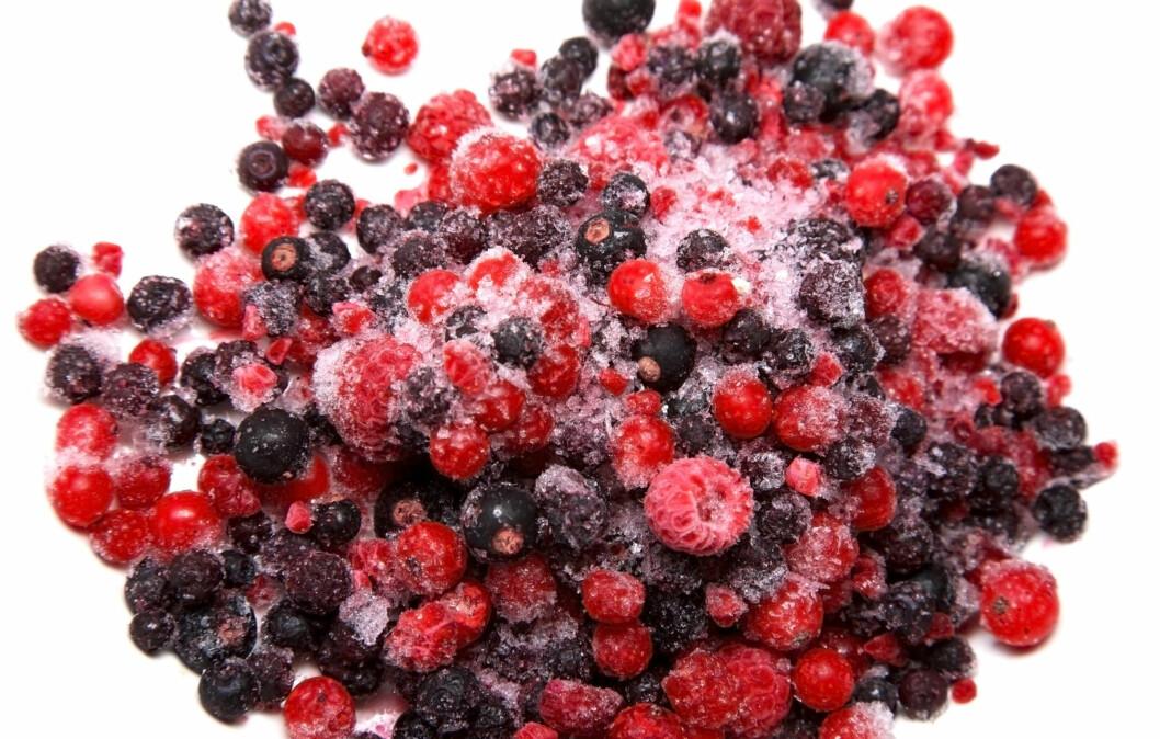 FROSNE BÆR: Frosne bær er like sunne som ferske. I tillegg er de billigere og holder seg lengre.  Foto: Thinkstock