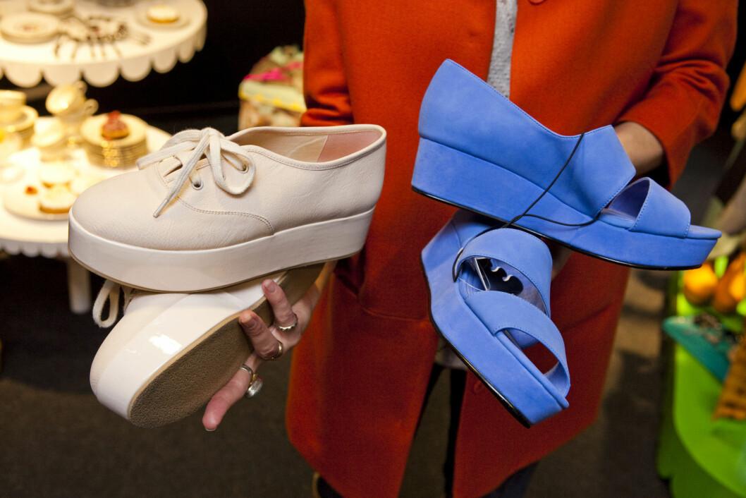 MONKI-SKO I 2012: Kilehælen, som betyr at det ikke er noe luft mellom hælen og skoen, men at skoen gradvis blir høyere bak, blir faktisk bare mer og mer populær. Foto: Per Ervland