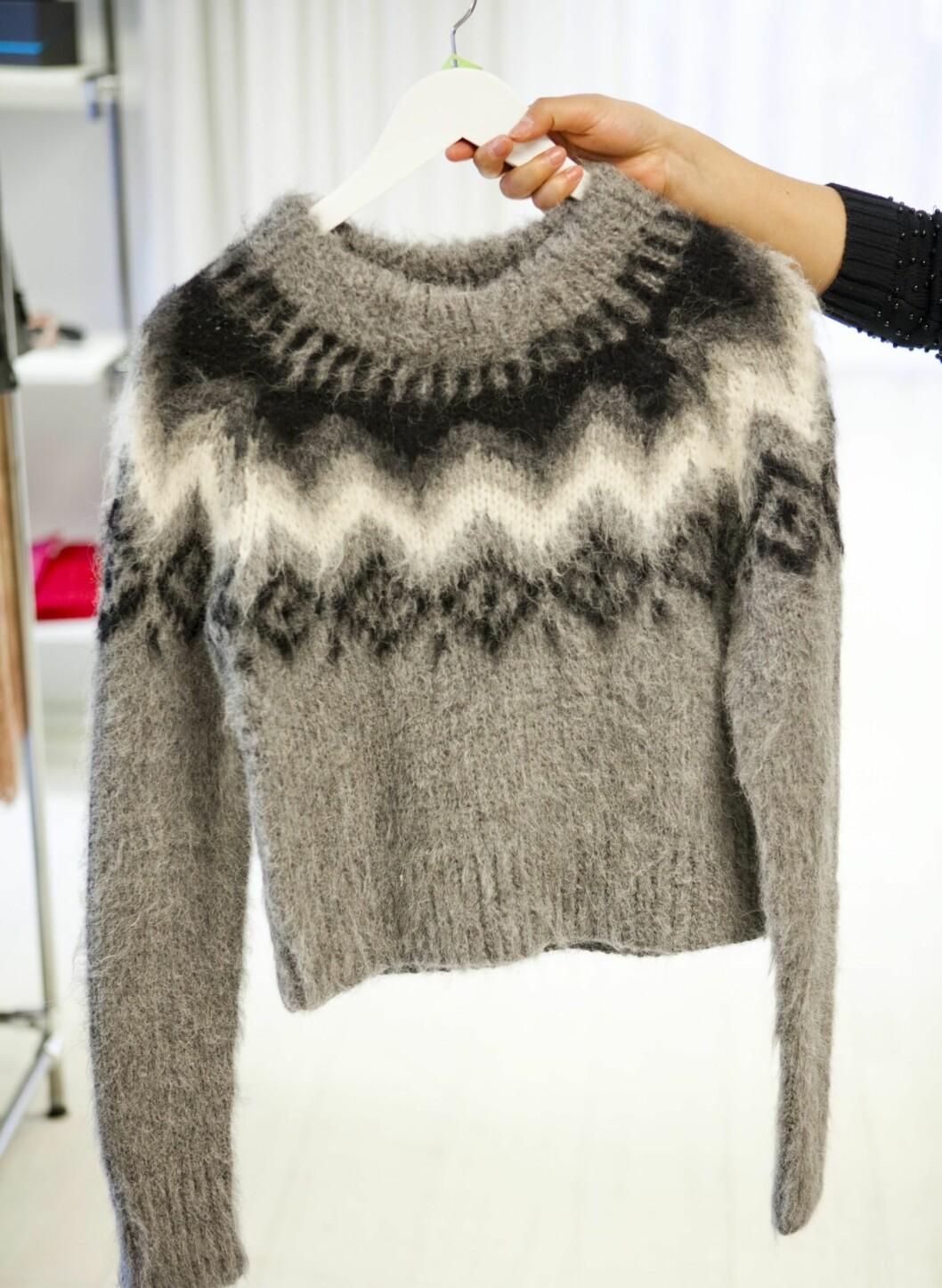 Kort genser inspirert av tradisjonelle islandsgensere (kr 3700, Gant). Foto: Per Ervland