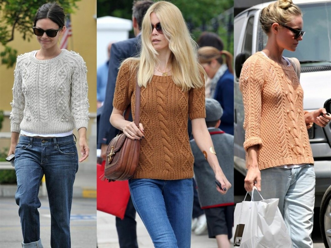 GENSER-GIRLS: Fra venstre skuespiller Rachel Bilson, supermodell Claudia Schiffer og skuespiller Kate Bosworth. Foto: All Over Press