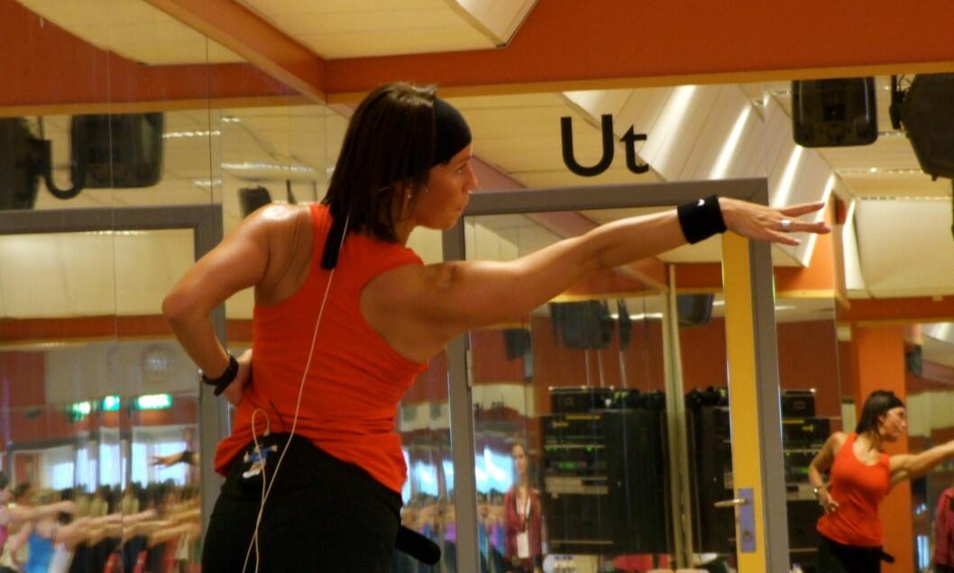 EGET FIRMA: Therese Cleve driver i dag sitt eget firma - Movimenti, hvor hun blant annet underviser i dans. Her fra Nike Convention tidligere i år.  Foto: Movimenti/Therese Cleve
