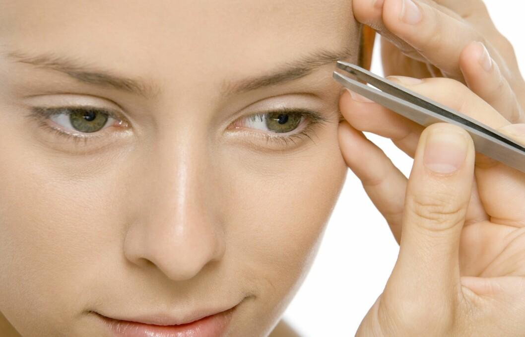 MANGE FELLER: Det er ikke enkelt å få perfekte øyebryn. Mange vanlig feil kan faktisk få deg til å se eldre ut enn du er.  Foto: Colourbox