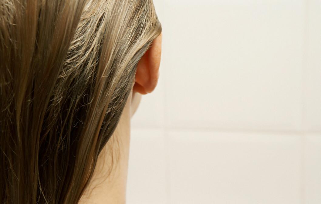 PÅ SITT SVAKESTE: Når håret er vått, er det på sitt svakeste, ifølge frisøren.  Foto: Colourbox