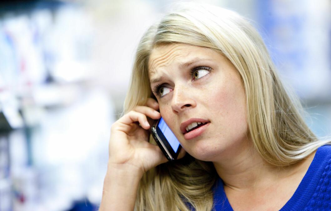 MER STRESS: Ny forskning viser at bruk av smarttelefoner, som iPhone, gjør oss mer stressa - særlig på fritiden.  Foto: Colourbox