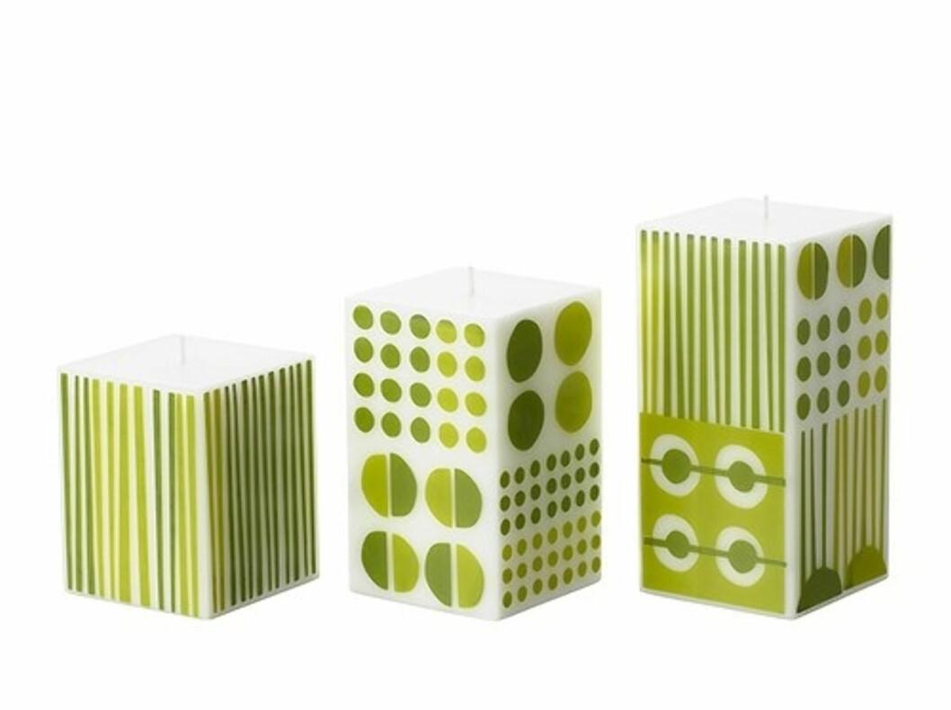 <strong>GULLIG:</strong> Kubbelys med mosegrønt 70-tallsmønster (kr.69). Foto: Ikea.no
