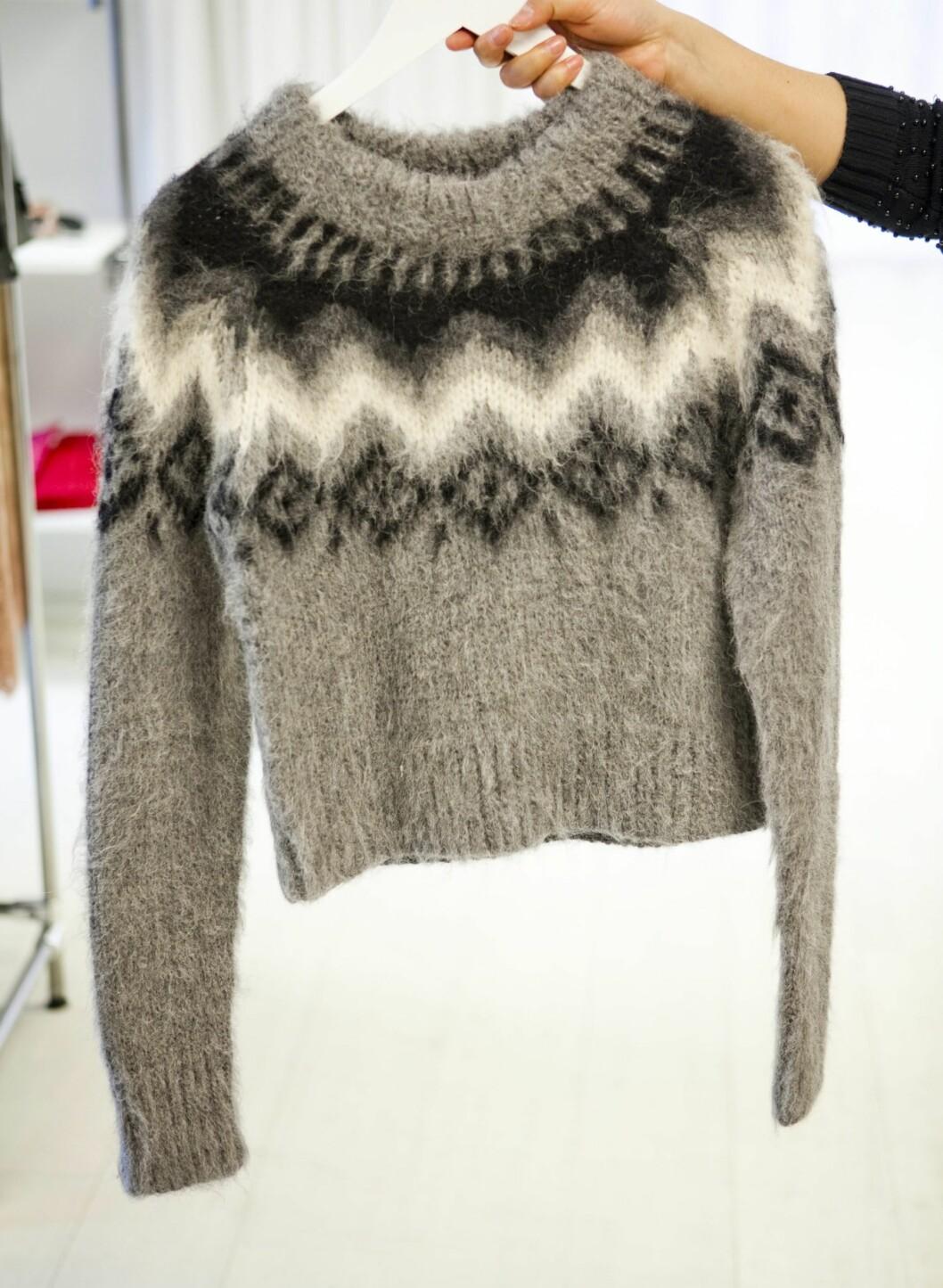 Genser fra Gant (kr.3700). - I en islandsgenser vil du virkelig holde varmen i vinter. Foto: Per Ervland