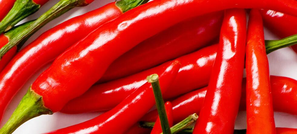 Chili er bra for tett nese