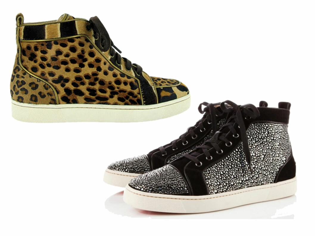 GLITTERSKO TIL BLODPRIS: Blir Victoria Beckam og andre fashionistaer å se med disse skoene i høst? Foto: Produsenten