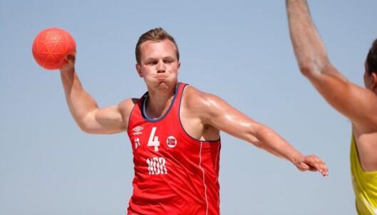 <strong>T-TRØYE:</strong> Gutta spiller i shorts og t-trøye. Foto: Uros Hocevar / EHF