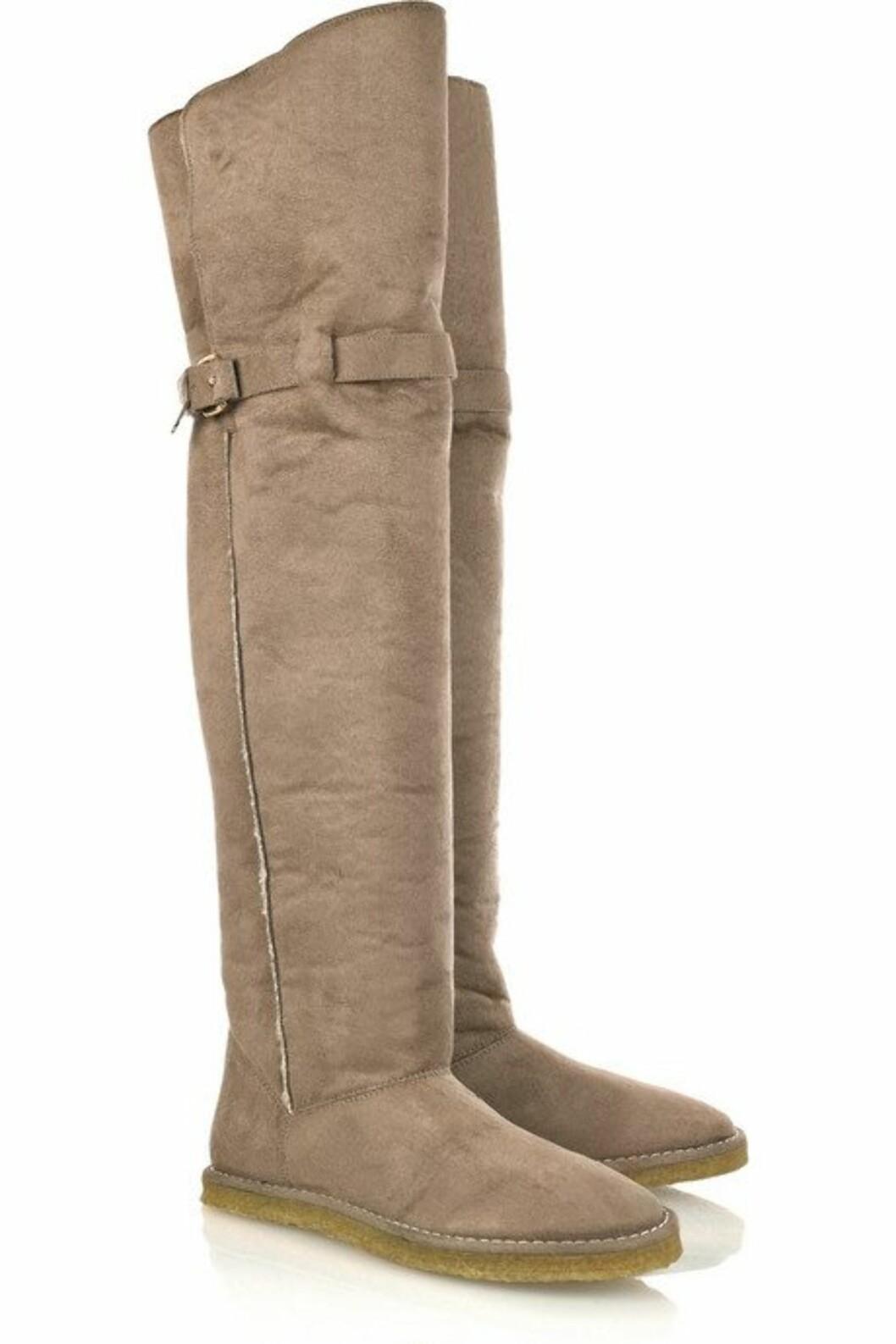 ... og bootsene kan brettes opp og dekke både legger og knær på ekstra kalde dager.  Foto: Produsenten.
