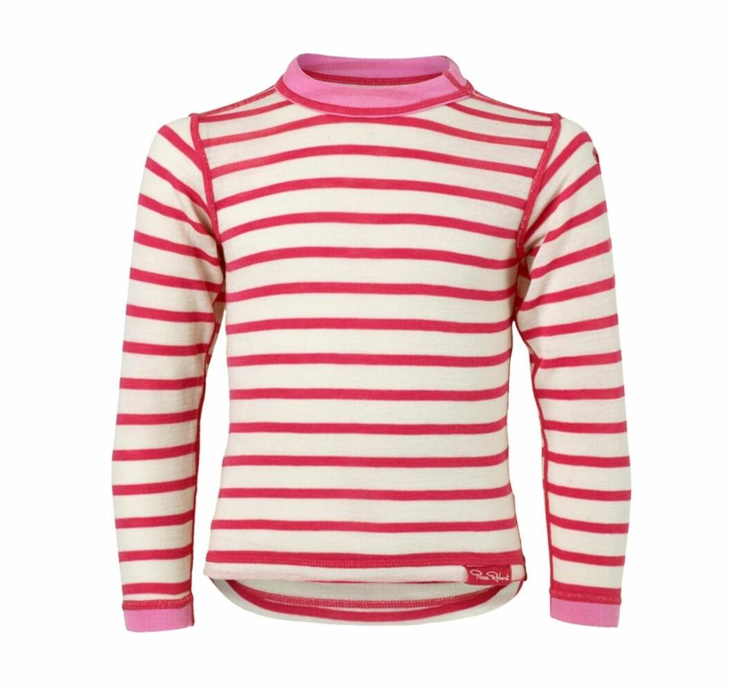 Stripete genser i merinoull fra Pierre Robert |kr 210 | https://track.adtraction.com/t/t?a=1133247546&as=1115634940&t=2&tk=1&url=http://pierrerobert.no/genser-merinoull-1-5-5-ar-hvit-og-rosa/p/1712