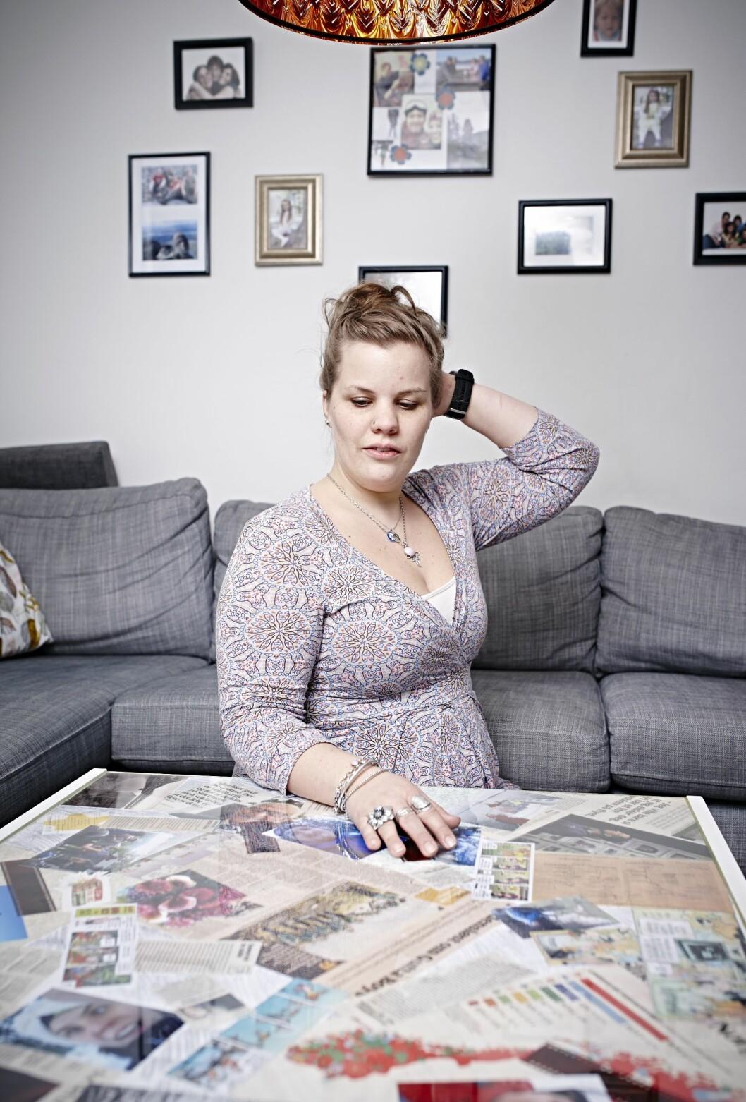 BEDRE HUKOMMELSE: Terese fikk bedre hukommelse etter operasjonen, men fortsatt er det mange hull ihukommelsen hennes. Foto: Geir Dokken