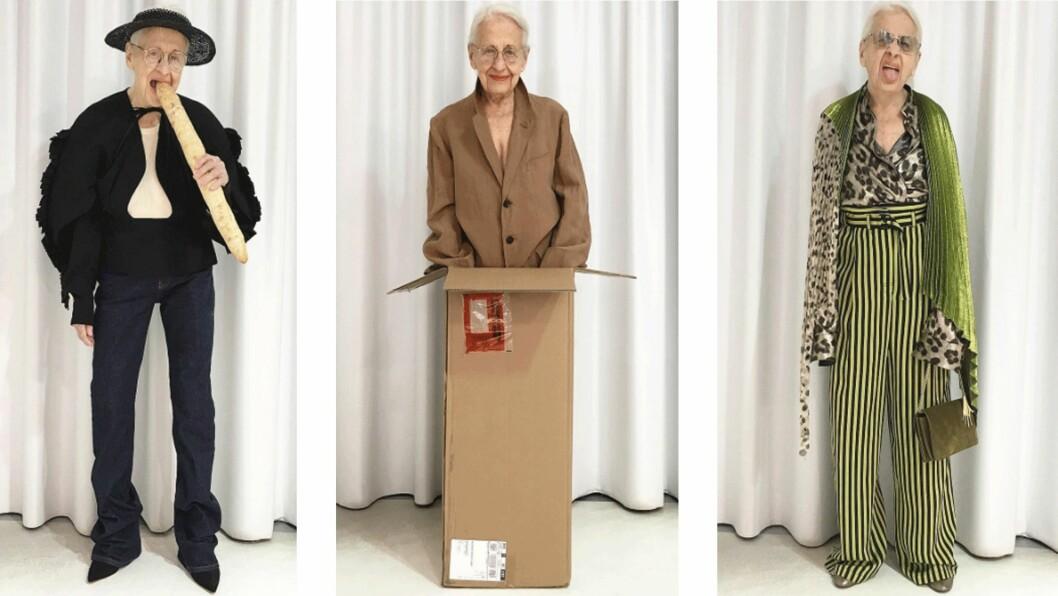 <strong>ERNESTINE STOLLBERG:</strong> Den 95 år gamle damen fra Wien ble modell for en konseptbutikk i 2016. Nå er hun superhot på Instagram og vi forstår godt hvorfor. Foto: Skjermdump fra Instagram / @park_wien