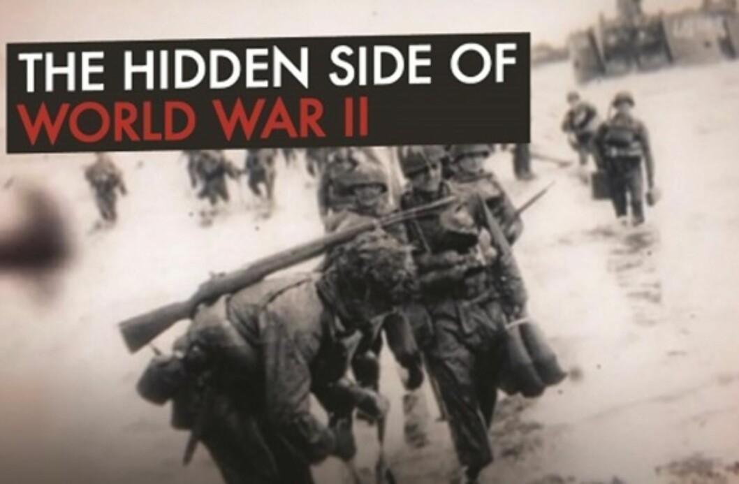 DOKUMENTAR: Den fem episoder lange dokumentaren «The hidden side of World War II», eller «Andre verdenskrigs skjulte side» som den heter på norsk, kom ut i 2015. Foto:  Skjermdump: D8