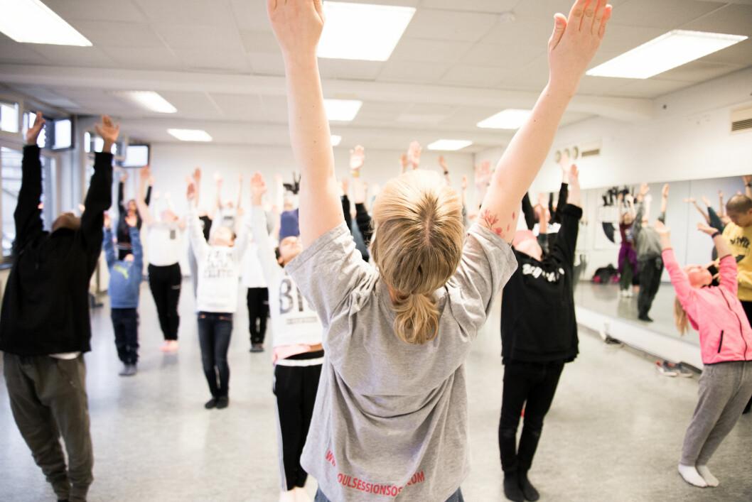 Camilla føler seg aldri så fri som når hun danser.    Foto: Foto: Hanne Bernhardsen Nordvåg.