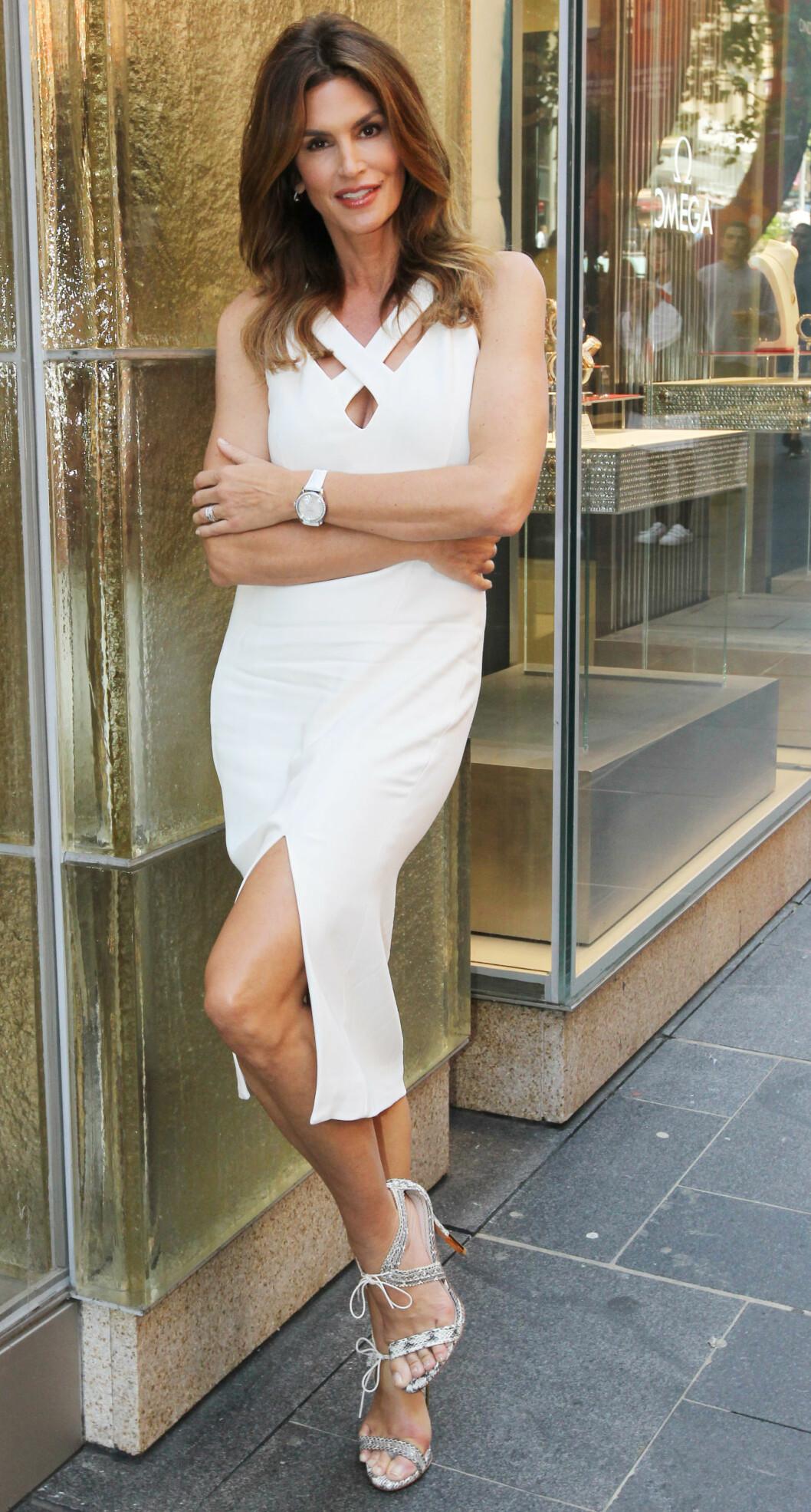 CINDY CRAWFORD: Skuespilleren og modellen er 51 år. Foto:  Foto: NTB Scanpix
