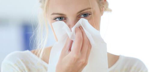 Er det pollenallergi eller bare en forkjølelse?