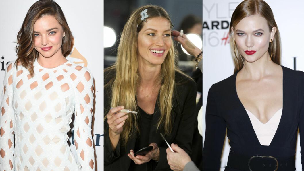Miranda Kerr, Gisele Bundchen og Karlie Kloss er superfans av samme produkt. Foto: Scanpix