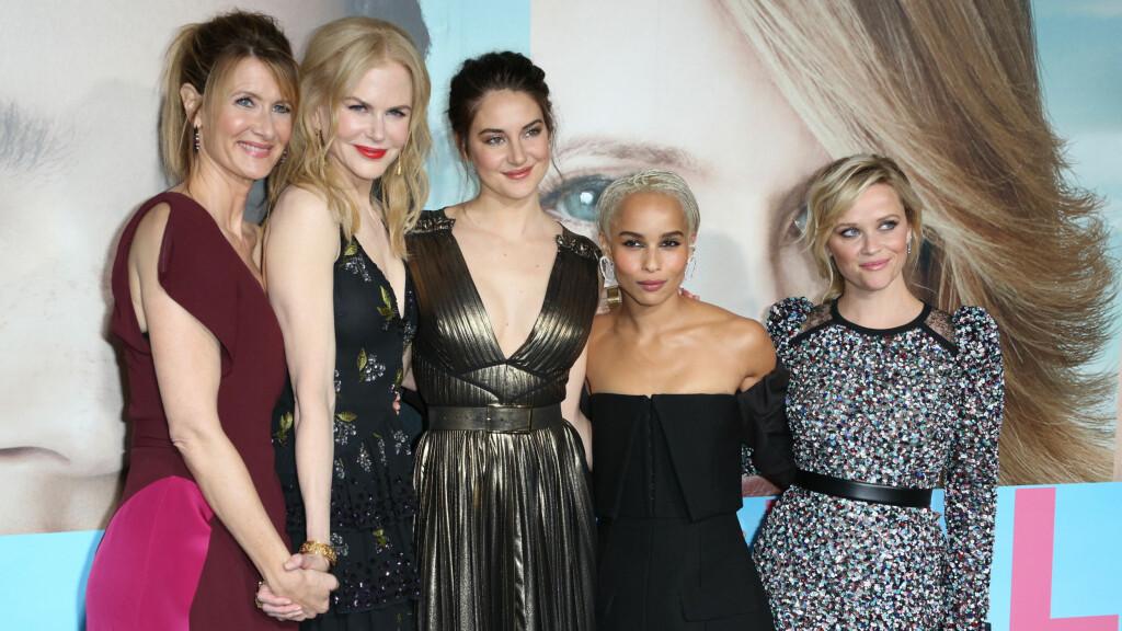 BIG LITTLE LIES: Vi er blitt helt hekta på HBO-serien «Big Little Lies» med Laura Dern, Nicole Kidman, Shailene Woodley, Zoe Kravitz og Reese Witherspoon i hovedrollene. Dette bildet er tatt under L.A.-premieren i februar. Foto: NTB Scanpix