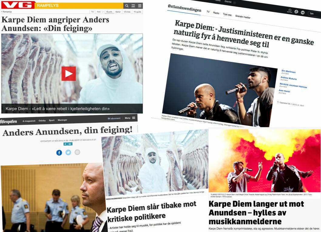 <strong>KARPE DIEM:</strong> Da Heisann Montebello ble lansert i 2015 var det Little Big Sister som stod bak markedsføringen. Foto: Skjermdump: NRK, VG, DAGBLADET, TV 2