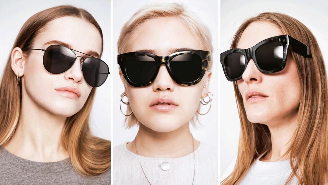 LANSERER SOLBRILLER: Kjedebutikken Weekday slipper for første gang sin egen solbrille-kolleksjon. Foto: Produsenten