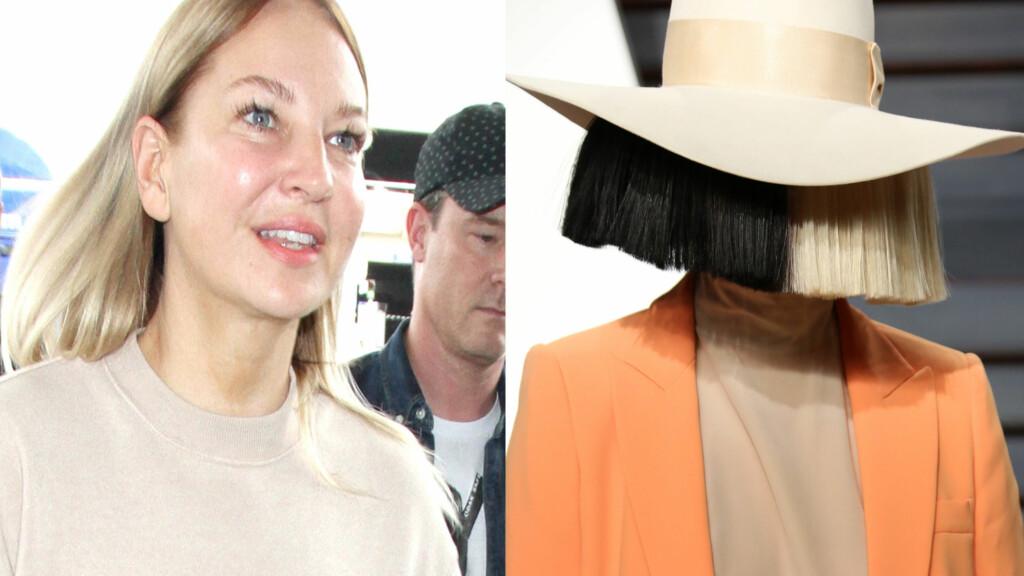 SIA: Popstjernen Sia pleier å skjule ansiktet sitt bak parykker og store hatter, men i fjor ble hun avbildet på LAX flyplass. Foto: Scanpix