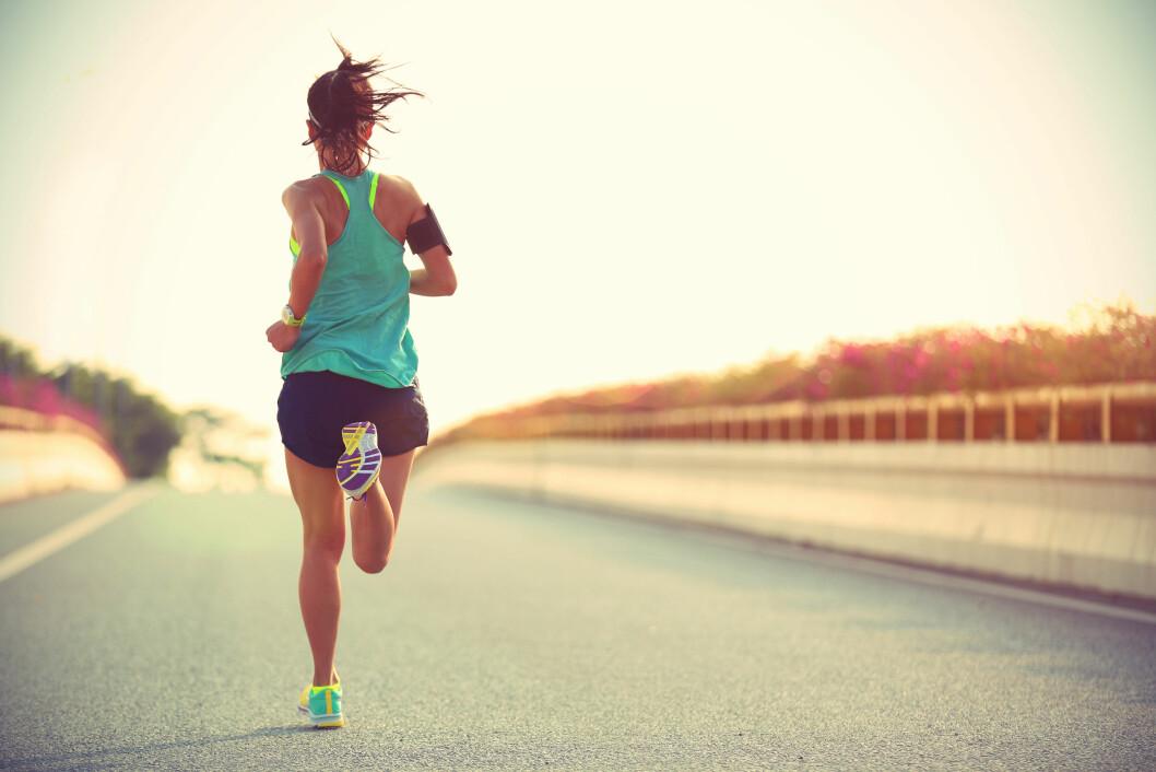 VIKTIG MED TEKNIKK: Løpeteknikk handler ikke bare om løpssteget, men hvordan du holder hele kroppen.  Foto: Scanpix