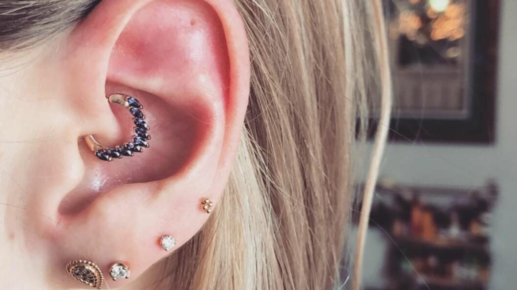 DAITH PIERCING: Det hottest du kan ta nå er en daith piercing!  Foto: Skjermdump Instagram