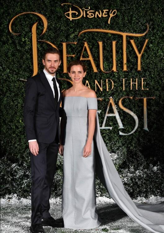 Dan Stevens og Emma Watson   Foto: Rex Features