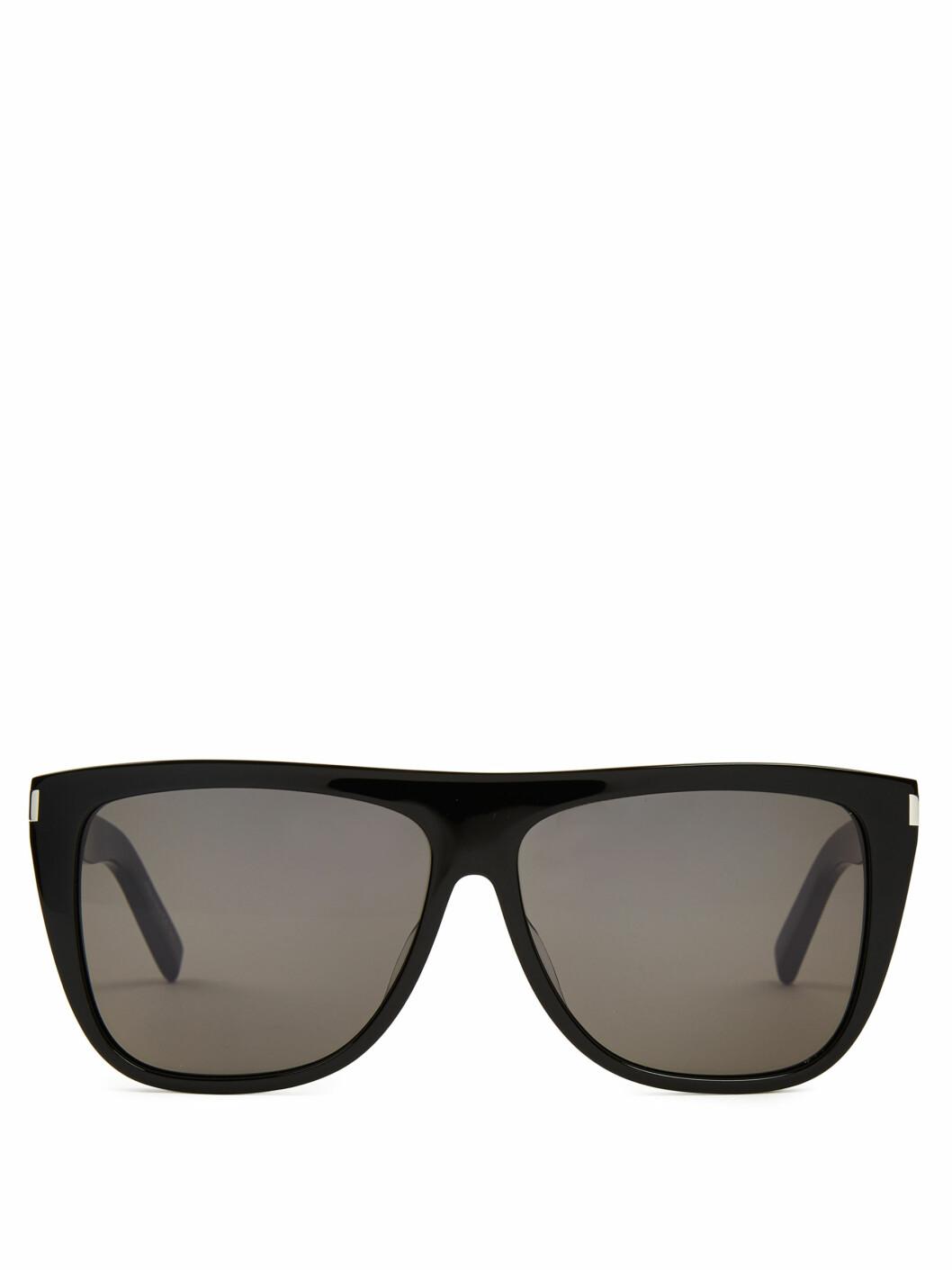 Solbriller fra Saint Laurent via Matchesfashion.com | kr 2030 | http://www.matchesfashion.com/intl/products/Saint-Laurent-Flat-top-acetate-sunglasses%09-1039605