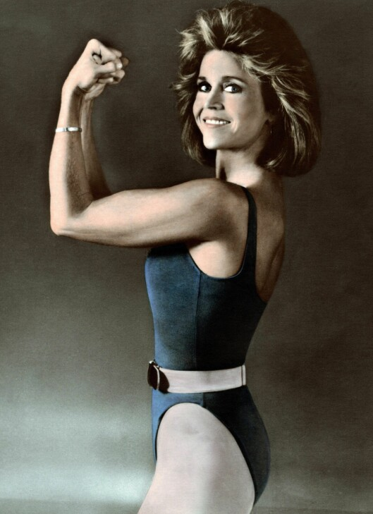 TRENINGSDRONNING: Jane Fonda har gjort stor suksess med sine fitnessvideoer. Foto: Scanpix