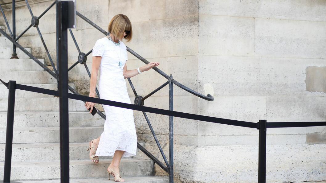 ANNA WINTOUR: Vogue-redaktøren avslører hvilket plagg hun er så lei. Foto: Abaca