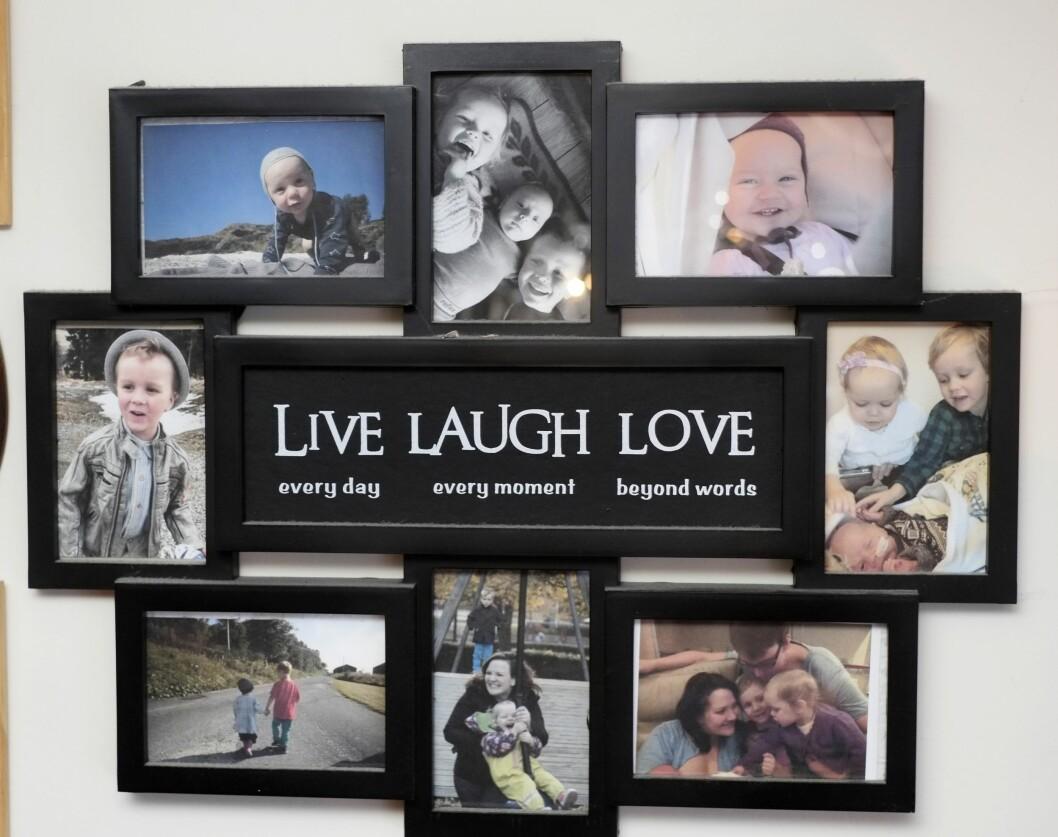 <strong>LIV OG RØRE:</strong> Med tre aktive barn i huset er det stadig mye som skjer i familien Almås. Foto: Hege Landrø Johnsen