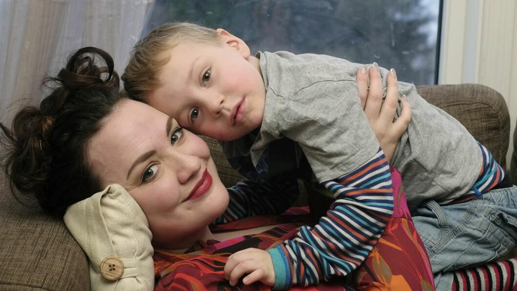 <strong>LIVMORHALSKREFT:</strong> Karianne skulle opereres for livmorhalskreft, men fikk beskjed om at hun var gravid med lille Bendik.  Foto: Hege Landrø Johnsen