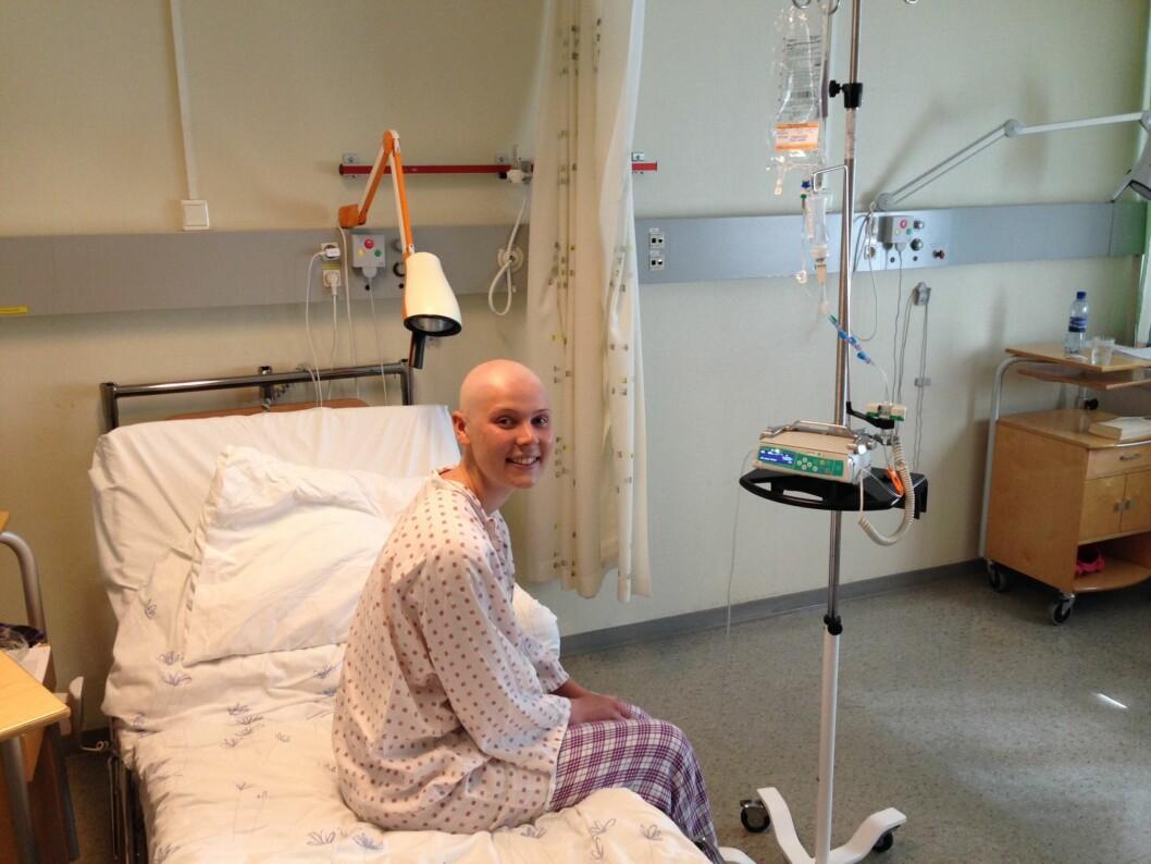 <strong>LIVMORHALSKREFT:</strong> Dorthe fikk livmorhalskreft i en alder av 22 år. Selv om hun var forberedt på å få en slik beskjed, kom det som et sjokk. Foto: Privat