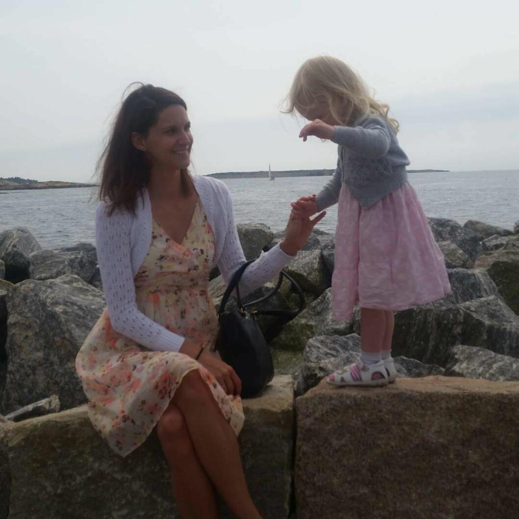 ØNSKER SEG FLERE BARN: I dag har Karoline en datter på 4 år.  Foto: Privat