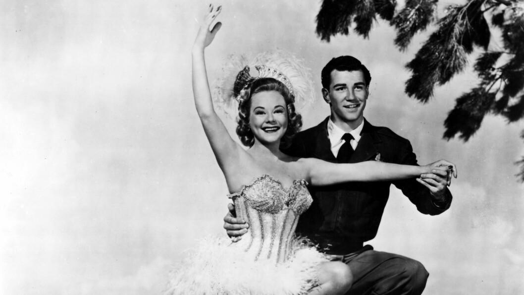 <strong>SONJA HENIE:</strong> Sonja Henie i filmen «The Countess of Monte Cristo» sammen med motspiller Michael Kirby i 1948.  Foto: NTB scanpix