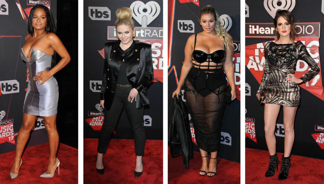 PÅ LØPEREN: Christina Milian, Alli Simpson, Hunter McGrady og Laura Marano. Foto: Scanpix
