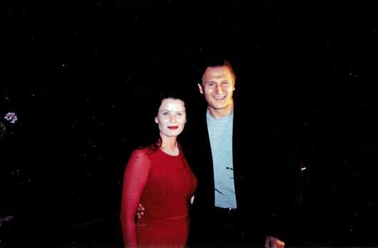 <strong>FRA HOLLYWOOD:</strong> Hollywood-skuespiller Liam Neeson er medprodusent i Gørilds nye film. Liam sa ja da Gørild ringte ham og spurte.  Foto: Privat