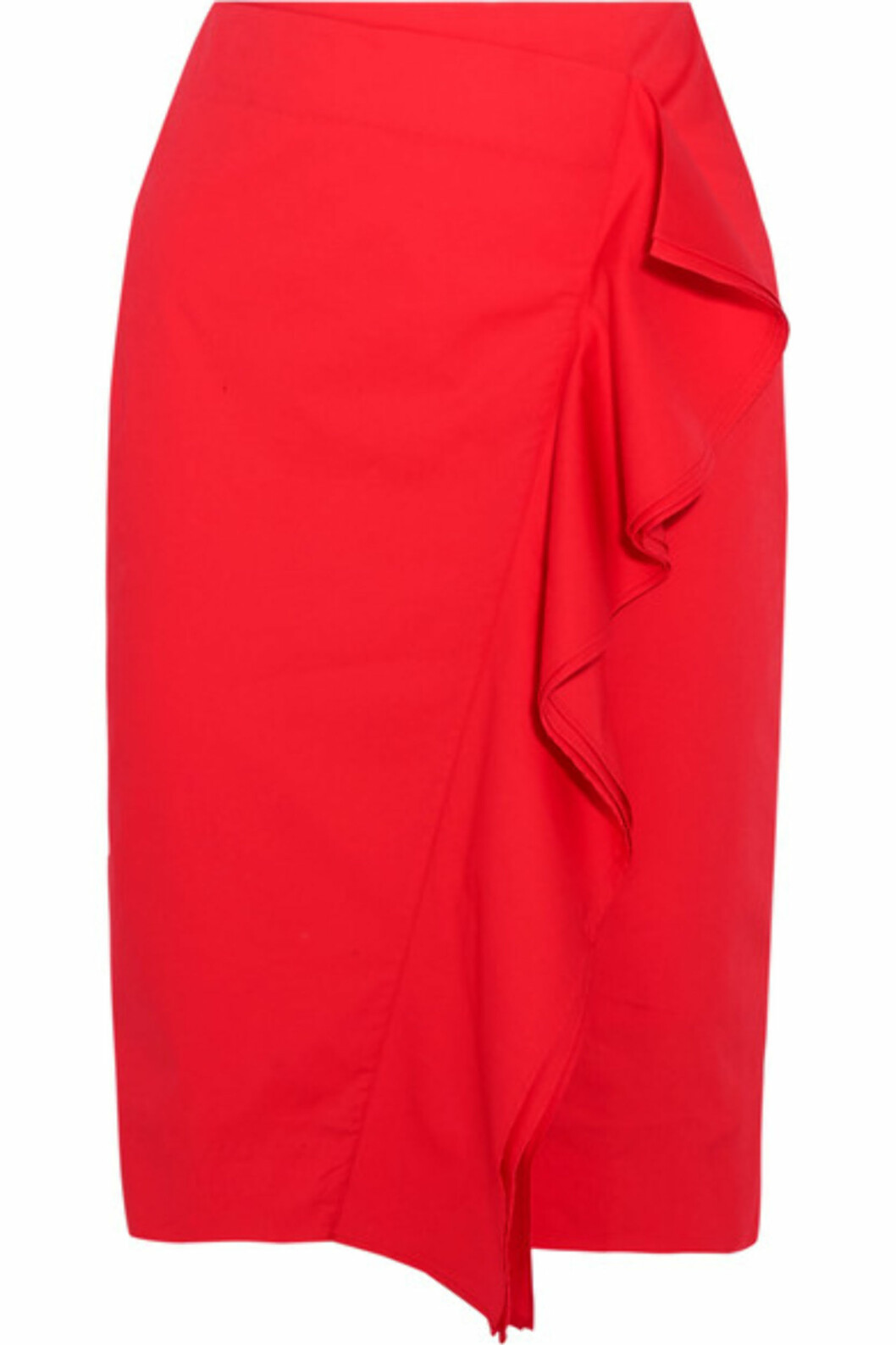 Skjørt fra J.CREW via Net-a-porter.com | kr 1185 | https://www.net-a-porter.com/no/en/product/865339/j_crew/ruffled-cotton-blend-poplin-skirt