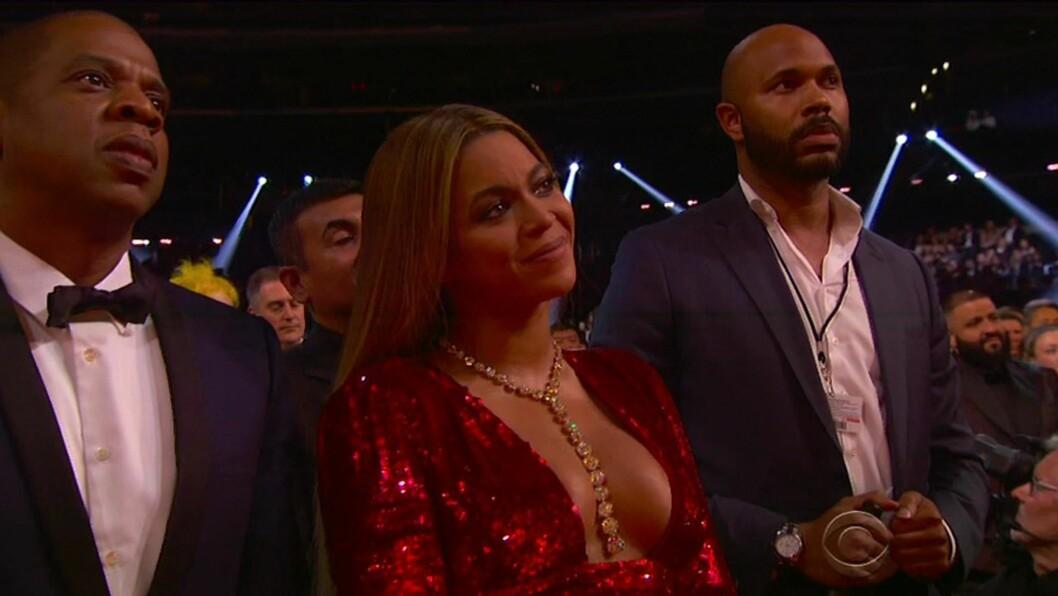 <strong>BEYONCE:</strong> Da Adele takket og hyllet Beyoncé, tok superstjernen til tårene.  Foto: Xposure