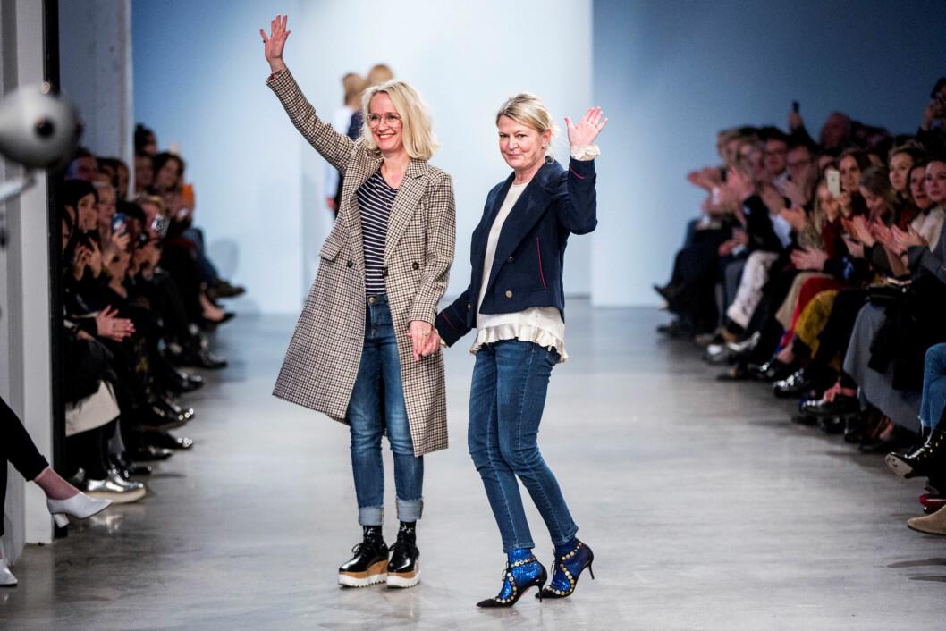 DESIGNERNE: Helle Hestehave (t.v.) og Rikke Baumgarten (t.h.).  Foto: Reuters