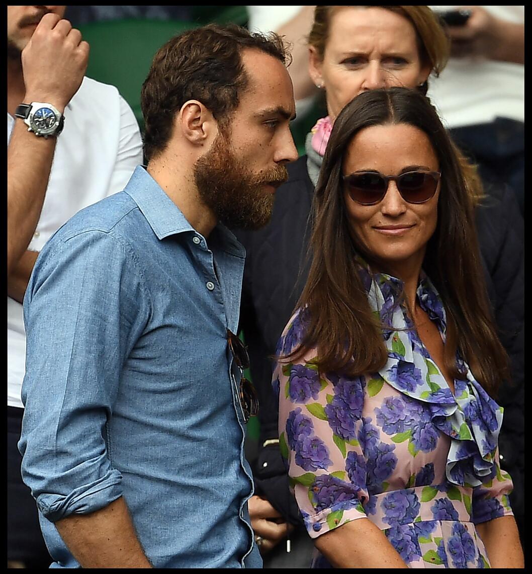 <strong>BRITISK SOSIETET:</strong> Pippa og James Middleton fotografert under Wimbledon Championships i fjor sommer. De er småsøsknene til hertuginne Kate og er naturlig nok en del av britisk sosietet. Foto:  Foto: NTB Scanpix