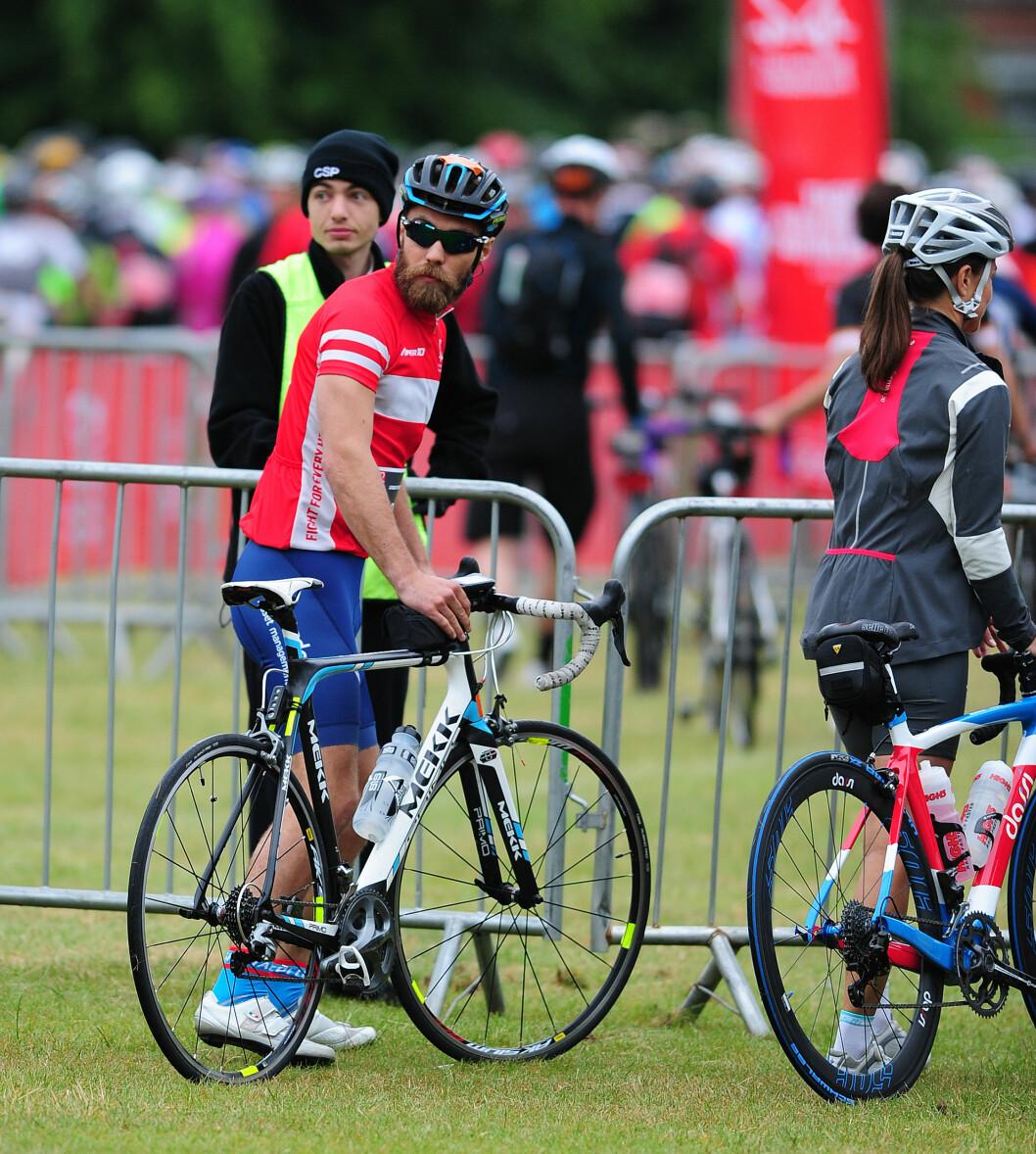 <strong>SPORTY:</strong> Både Pippa og James Middleton er svært aktive og her har de akkurat gjennomført et sykkelrace i forbindelse med en veldedighetstilstelning i London sommeren 2015. Pippa deltok for øvrig på det populære skirennet Birken i Norge i fjor. Foto:  Foto: NTB Scanpix