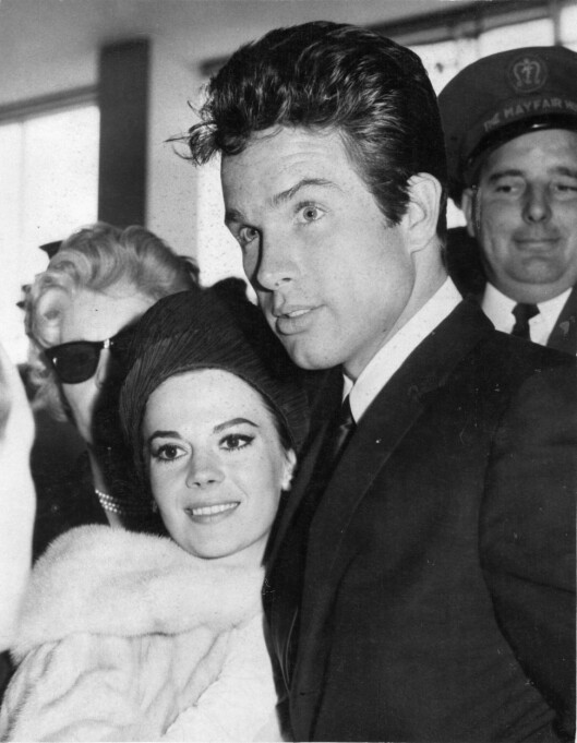 ELSKET MENN: Natalie datet mange av datidens hunks, som her med Warren Beatty i 1962. Foto: NTB scanpix