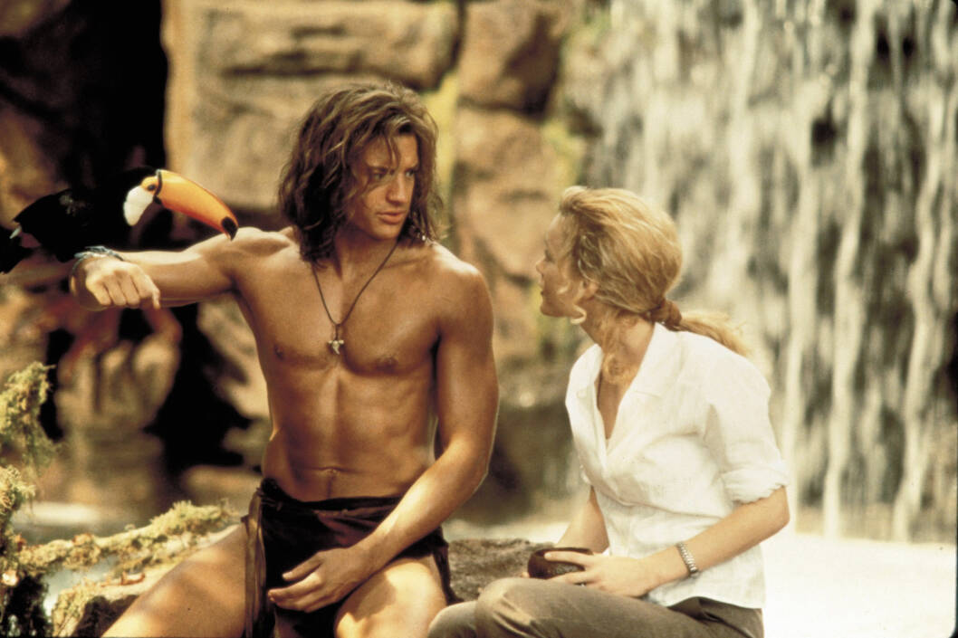 GEORGE OF THE JUNGLE: Det er 21 år siden Brendan Fraser spilte George, jungelens kong. Foto: NTB Scanpix