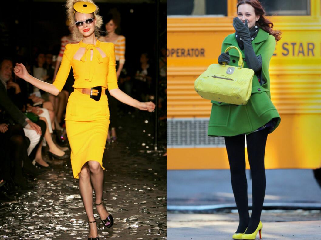 Fargen er alle steder: Fra Sonia Rykiels visninger og til til Gossip Girl-settet.