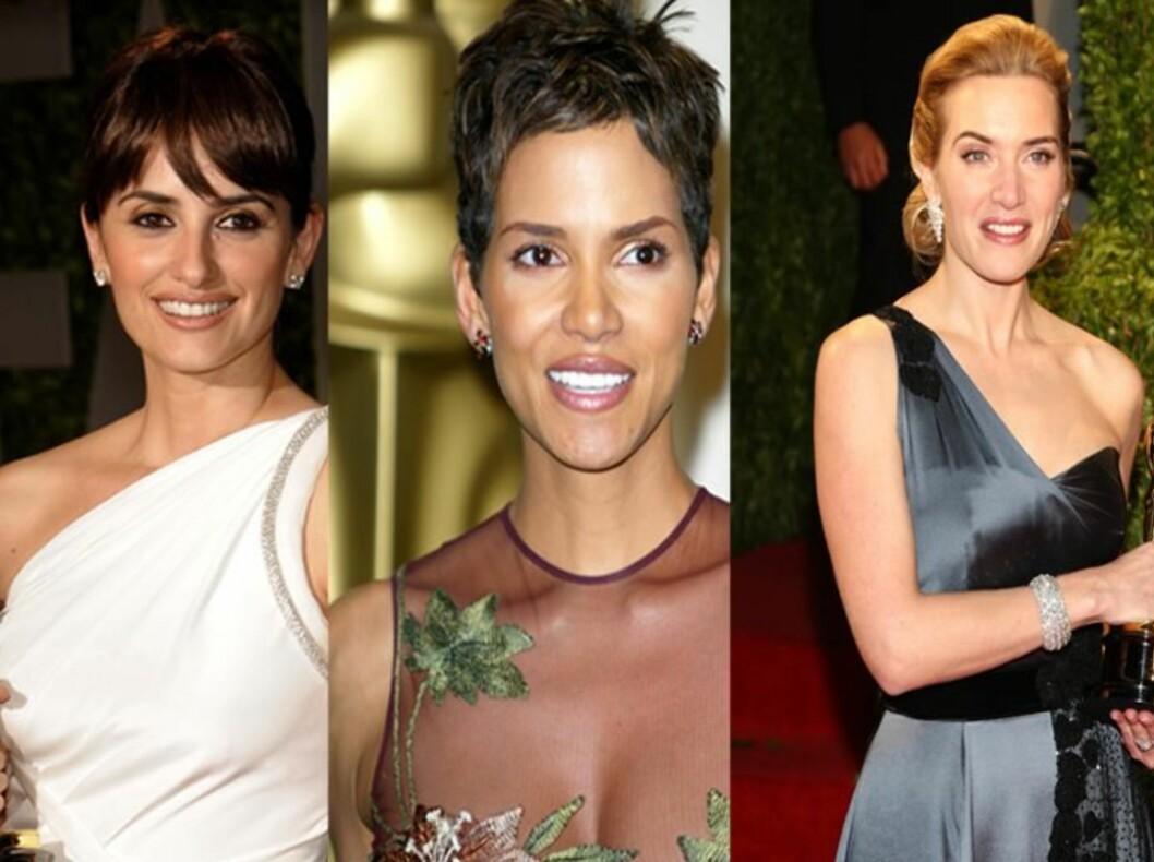 Penelope Cruz, Halle Berry og Kate Winslet har noen av historiens beste Oscar-frisyre. Foto: All Over Press