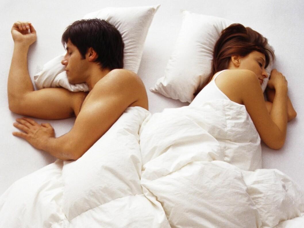 Det kan finnes mange årsaker til at dere sjelden har sex. Foto: colourbox.com